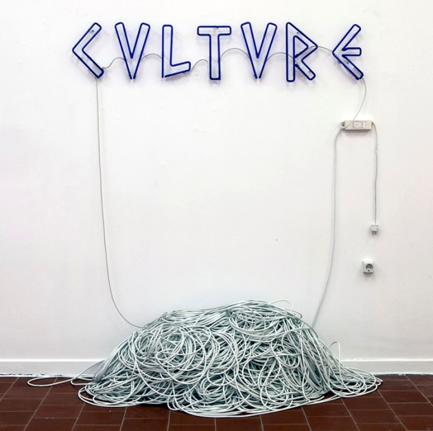 Culture, 2013, Mixed-media installation (neon, 1000 metres of cable, socket). Courtesy of the artist and Kalfayan Galleries, Athens - Thessaloniki.