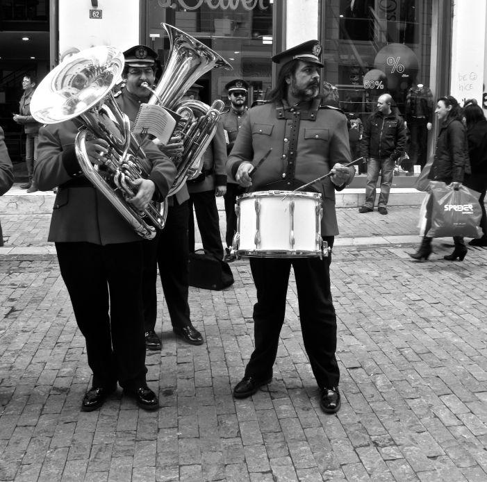 Athens Big Band on Ermou St. Photo by A. Amvrazi.