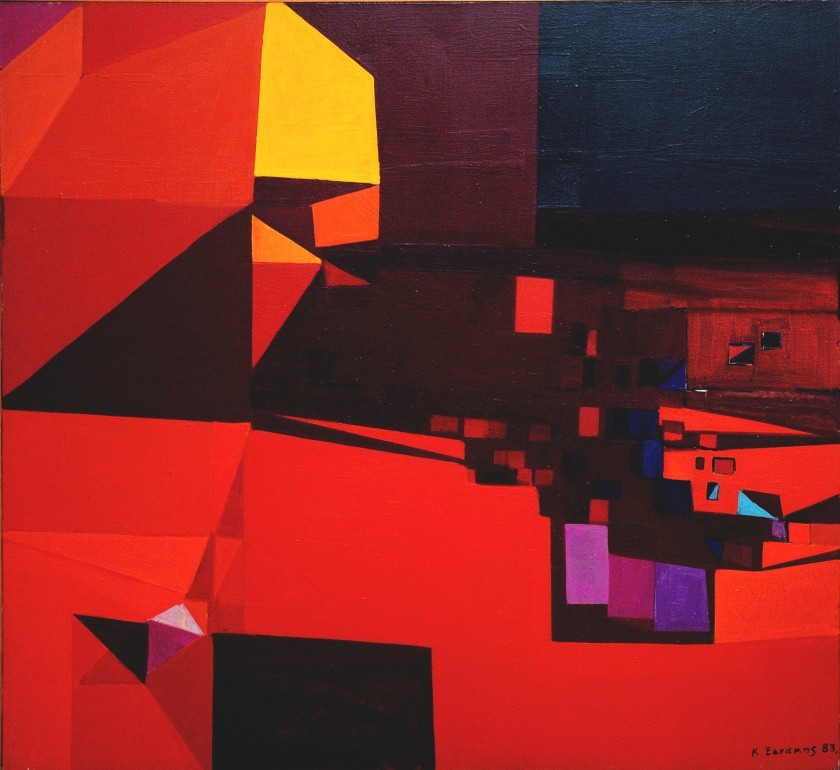 Cosmas Xenakis, 1983, acrylic on canvas