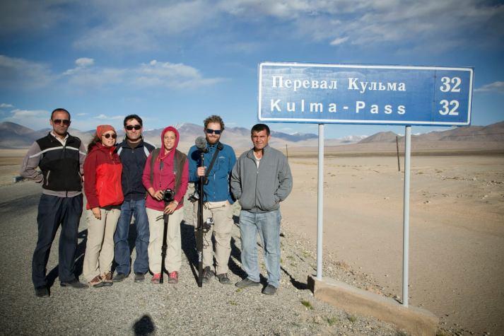 The New Plastic Road documentary film crew. Photo by Myrto Papadopoulos.