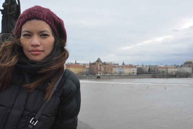 Tejada, who is a huge fan of travel, in Prague.