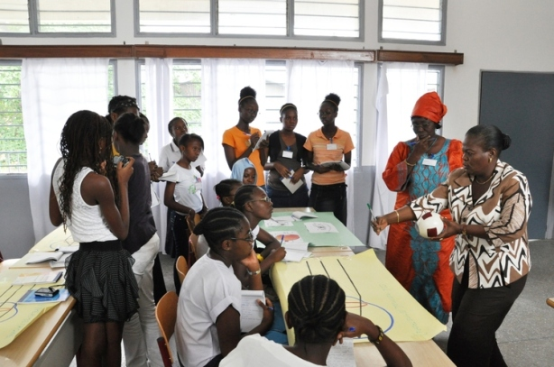 Green Light for Girls workshop in Kinshasa, Africa