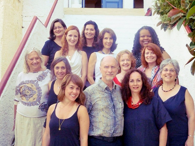 Robert Olen Butler with 2012 Aegean Arts Circle